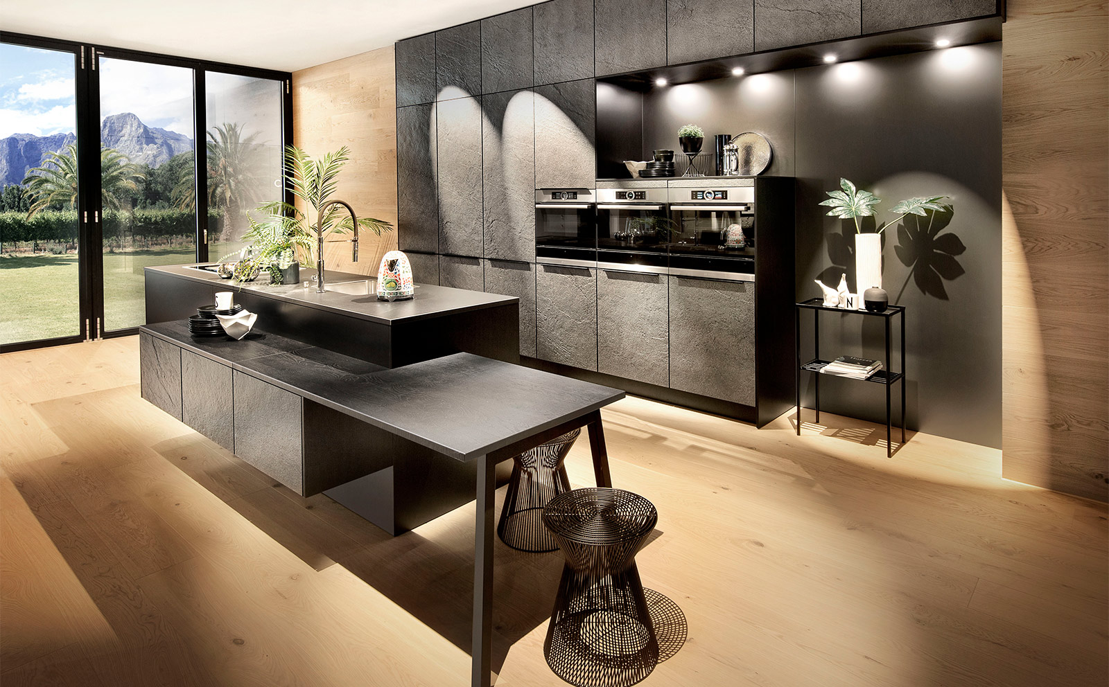 Küche in Steinoptik