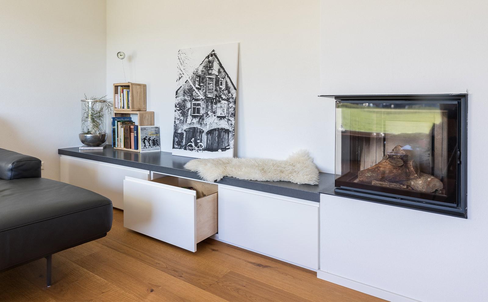 Ofenbank aus Holz