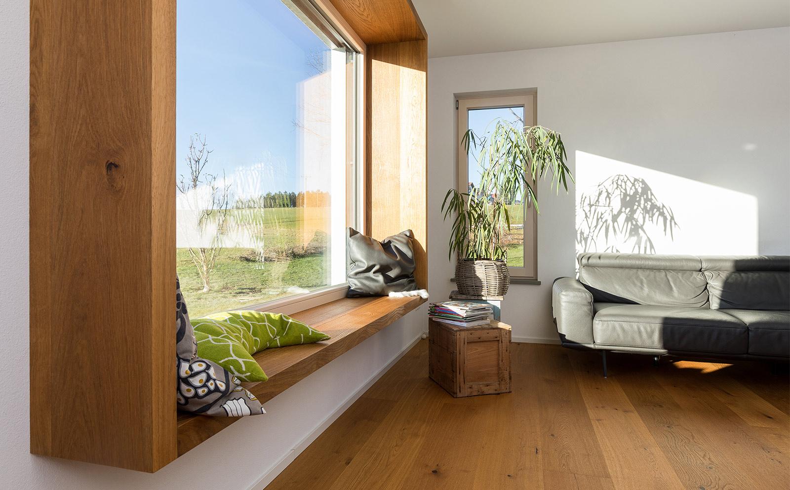 Sitzfenster aus Holz