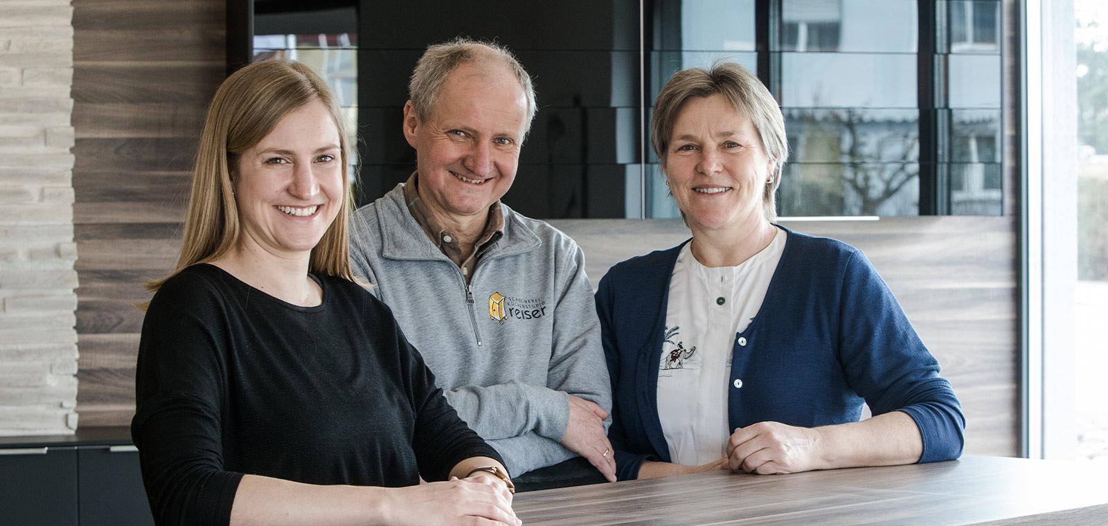 Familie Reiser - Ulrike Reiser, Hermann Reiser und Gabi Reiser (v.l.n.r.)